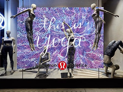 Concept for a mural at Lululemon