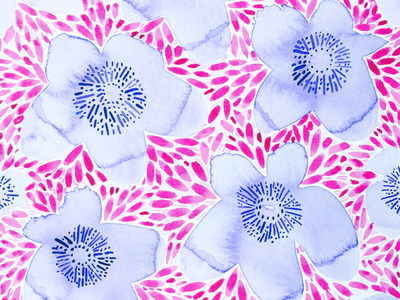 Purple and pink floral pattern