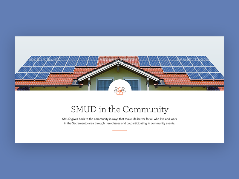 SMUD - Banner Design utility user experience ux ui component user interface design visual design design banner design banner smud