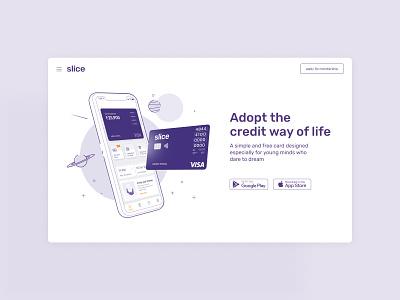 Slice Website Landing Page product design landingpage website webdesign illustration design branding ux ui