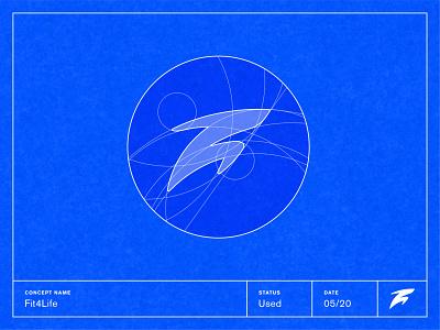 Fit4Life — Grids & More logo illustration design branding logo grid visual identity symbol design brand identity logotype brand mark