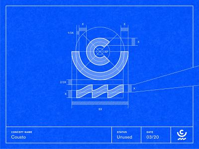 Cousto — Grid System symbol grid system logo design branding visual identity symbol design brand identity logotype brand mark