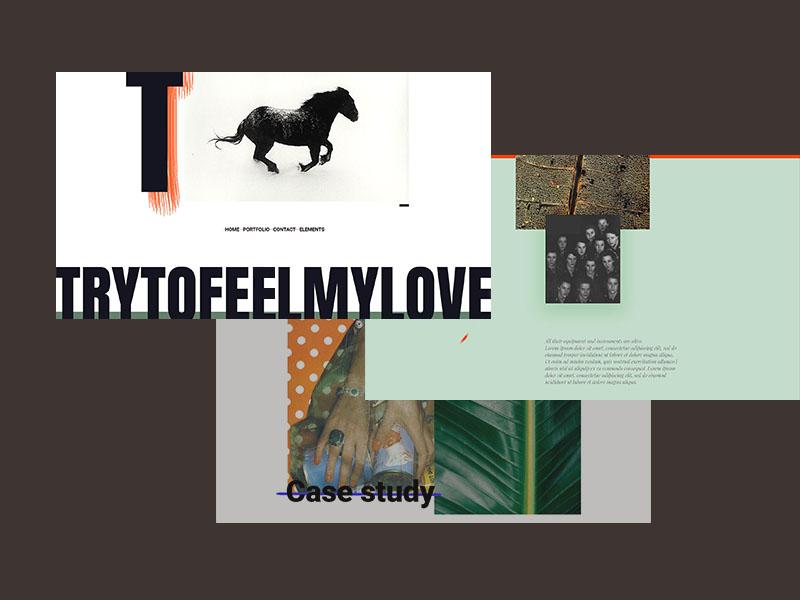 Try to feel my love ux ui website typography wordpress creative agency creative portfolio visual identity portfolio minimal design clean creative web