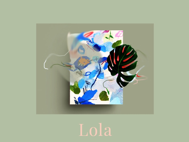 Lola art portfolio art board wordpress web portfolio ui website creative agency creative portfolio creative visual identity design art