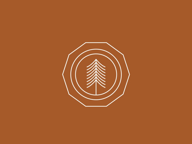 Fundamental illustrator hiking icon minimal vector illustration nature trees graphic design flat design