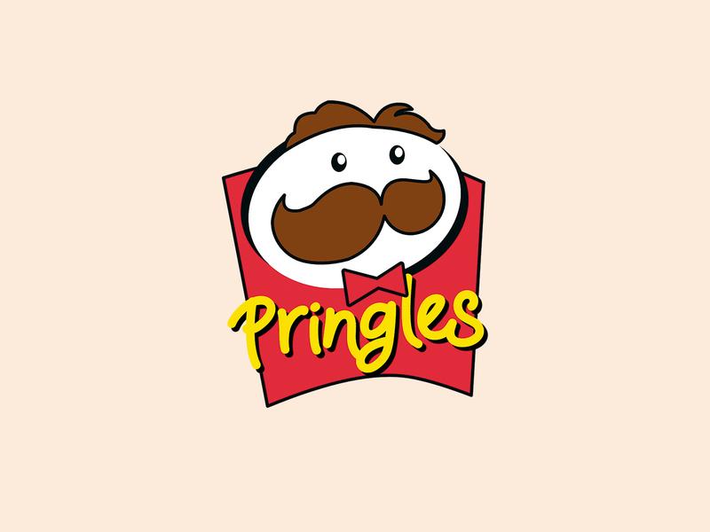 Pringles - Logo Rebranding design illustration minimalist pringles rebranding branding vector art photoshop gravit designer