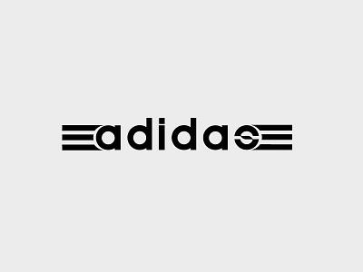 Adidas Rebranding illustrator adidas minimalist rebranding design