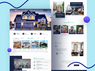 Real Estate Website template design appartments land holdings web designer mortgage land housing interior housing home agent property search property business property management property house rent website valuation sell apartment realestate real estate agent real estate