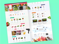 Grocery E-commerce Concept.