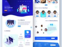 Software Service Company Website Concept