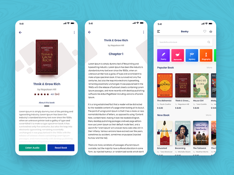 Audiobook Mobile App Design Concept by audin rushow on Dribbble