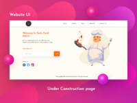 Under Construction Page UI Design