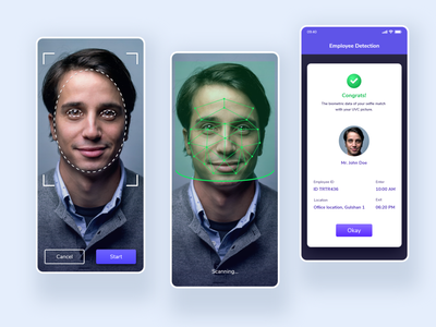 Face Detection App Concept artificialintelligence new technology app technology app security app security scanning app identification biometric scan data detection app human face scanner face recognition