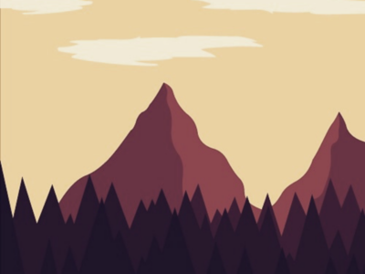 Rocky moutain high brown trees forest landscape illustrator illustration clouds sky moutains