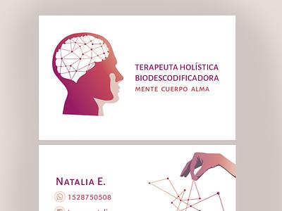 Personal card yoga card design terapia holistic card diseño ilustracion