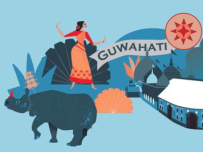 Mural for The retina centre retina guwahati indian illustrator vector interiordesign mural