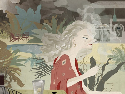 Greta editorial alcoholism depression diseño ilustracion