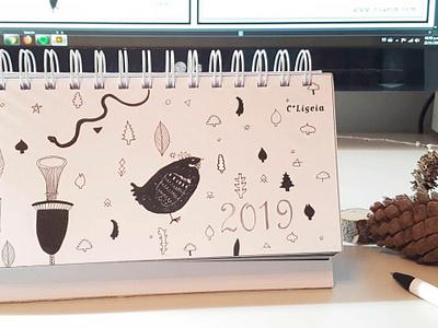 "Calendar ""Pagano"" diseño dark witch brujil planner 2019 calendar"