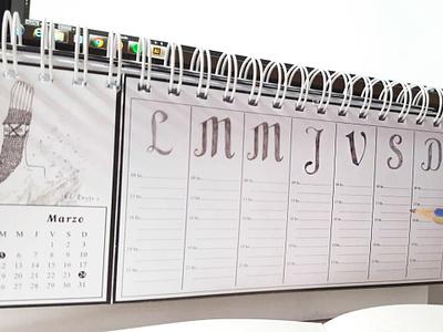 """Calendar planner """"Pagano"""" calendario 2019 diseño"""