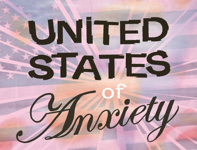 United States of Anxiety hand lettering collage poster design graphicdesign typography illustrator illustration