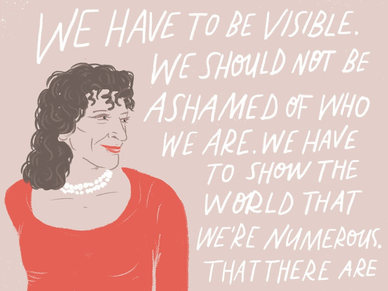 WIP Spot Illustration, Sylvia Rivera design artist empowerment wip pink modern illustrator illustration editorial photoshop handlettering lettering typography portrait activism pride gay pride sylvia rivera