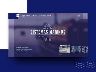 Astillero Naval - Web Concept azul barco ui marina blur blue slider naval web