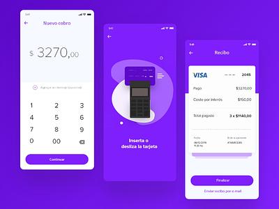 Pago con tarjeta de crédito - Exploración purple pago tarjeta de crédito checkout ux ui payment credit card app