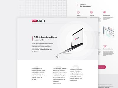 Suite CRM Landing Page minimal design uiux crm web ux ui landing page