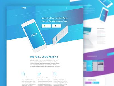 Astra - Landing Page icon gradient web mobile app landing page ux design uiux ui