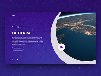Solar System - Header Exploration 🌎 uidesign solar system earth video design insporation web hero header ux ui