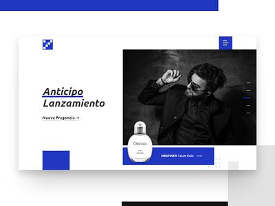 Margen Azul - Web Concept e-commerce perfume slider header inspiration design web ux ui uiux