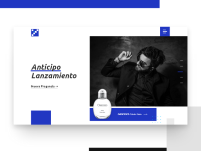 Margen Azul - Web Concept e-commerce perfume slider header inspiration design web ux ui uiux