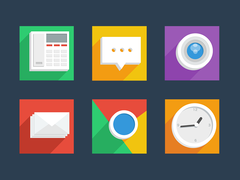 Theme flat shadow china ui icon mobile android sms theme phone browser camera clock email
