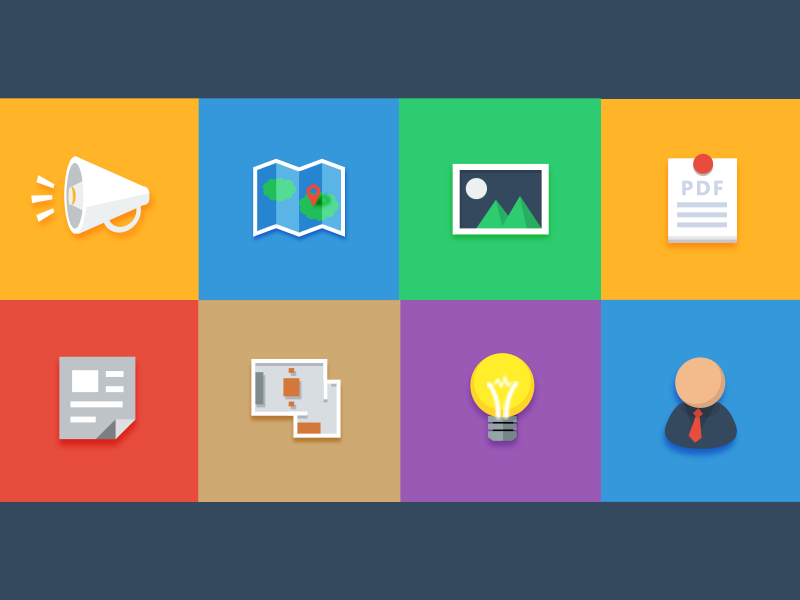 Flat icon icon flat ui shadow app map picture new pdf user plan light
