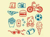 Summer Fun Illustrations
