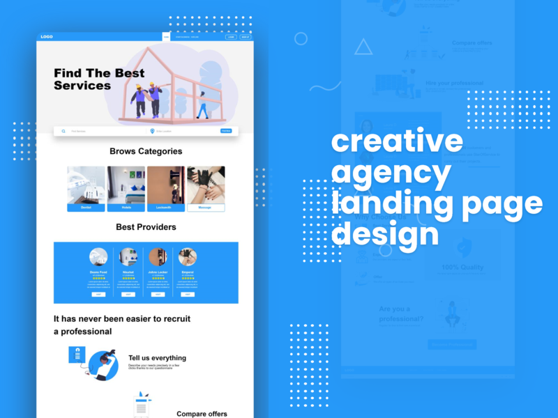 Local Agency Landing Page Design free ui kit ui inspiration prototype design inspiration uplabs creative design company adobe xd templates ui ux freebies ui design ui kit branding design home page design landing page agency branding agency website agency landing page