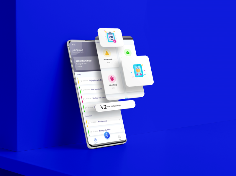 To Do list App Design V2 mobile ui mobile app application adobe xd graphic design prototype animation icon illustration app design app clean portfolio flat to do list profile ui ux branding design