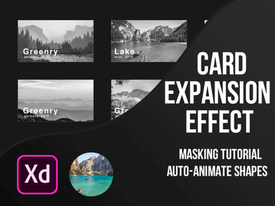 Card Expansion Effect in Adobe XD freebies freebie freebie xd youtube clean profile ux branding ui designer shapes autoanimate tutorial masking animation profile card card adobe xd design