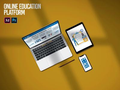 Online Education Platform LMS Design education website children illustration website profile clean courses ux ui branding design lms dashboad education