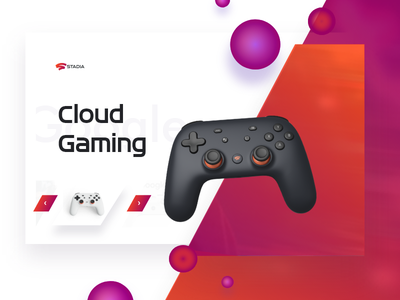 Cloud Computing Stadia clean branding ui design nvidia stadia adobe photoshop adobexd header banner ads banner ad google design cloud app cloud gaming cloud google