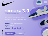 Nike shoes Free Run Custom Made