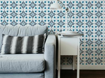 Mediterranean-Inspired Wallpaper Tiles