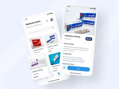 Medical Consultation App - Medicine Store drug pharmacy shop store heal purchase buy sell cart detail hospital cure bottle tablet pils antibiotics product doctor medical medicine