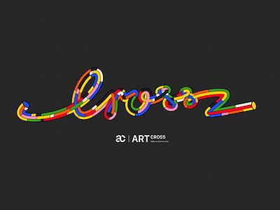ARTcross 设计 海报 illustration branding logo