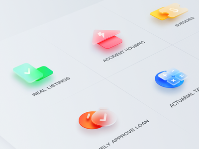 3D Frosted glass icon glass 设计 icon set icon logo