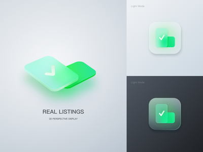 Frosted Glass Real Listing housing security logodesign building glass icon set icon logo 设计