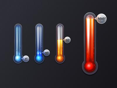 Thermometer realistic 3d tool 设计 design 海报 插图