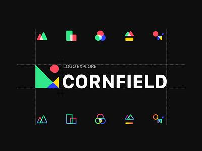LOGO EXPLORE housing estates cornfield home family mountain graphic design icon icon set branding 设计 logo