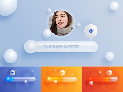 Thermometer hot temperature graphics design 海报 ui 设计