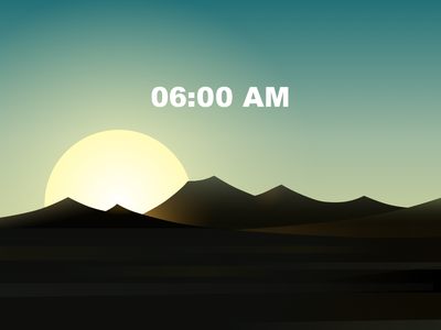 Western 6:00AM landscape 海报 插图 设计